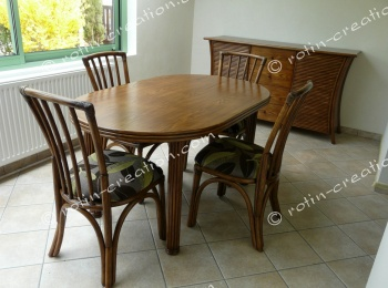 Table ovale CARLAT fixe